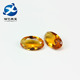 Deep golden yellow egg shape glass for jewelry