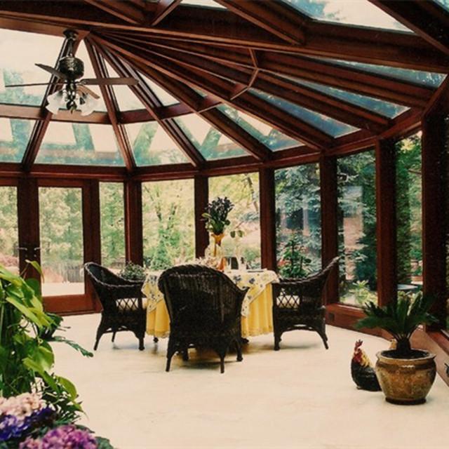 Kunstlerische Design Kleine Ecke Winter Garten Haus Outdoor Glas