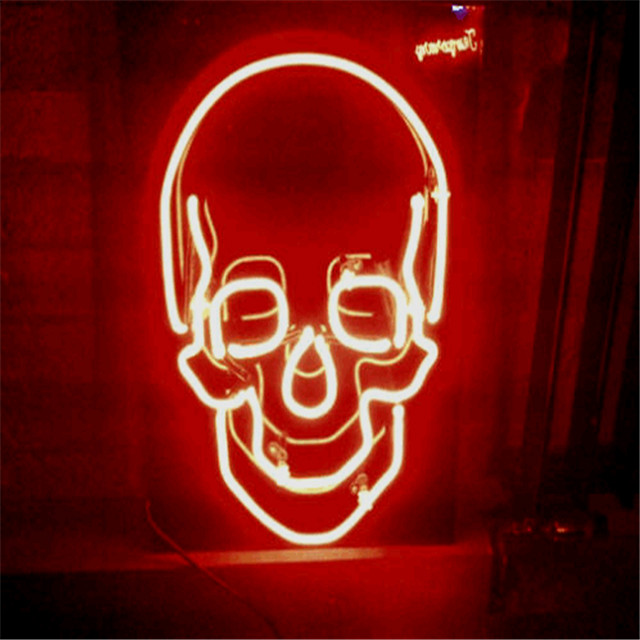 Cool Skeleton Neon Sign Electronic Acrylic Custom Led Sign