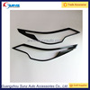 For Toyota Fortuner 2016 SUV Headlight Trims Carbon Exterior Accessories Auto Headlight Cover Carbon Front Light Cover