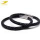 Luxury black pearl fishskin boys bangles and bracelets