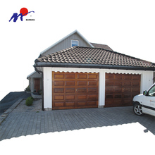 Security modern wood sectional garage door block panels sale