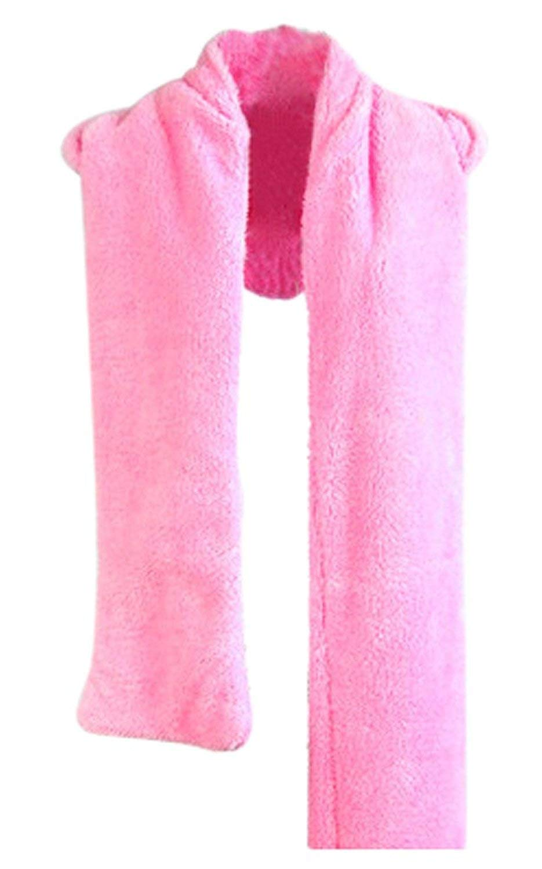 17ade865 GQMART Girl Women Cute Warm Wool Blend Hat 3 In 1 Function Hat / Scarf /  Gloves Pink
