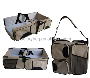 Baby Foldable bed bag portable bed-mobile changing station diaper bag Bassinet 3 in 1 Baby Crib