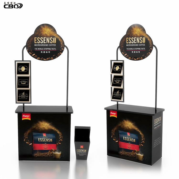 Supermarket Promosi Counter Portable Display Stand Promo Meja Promotor Counter