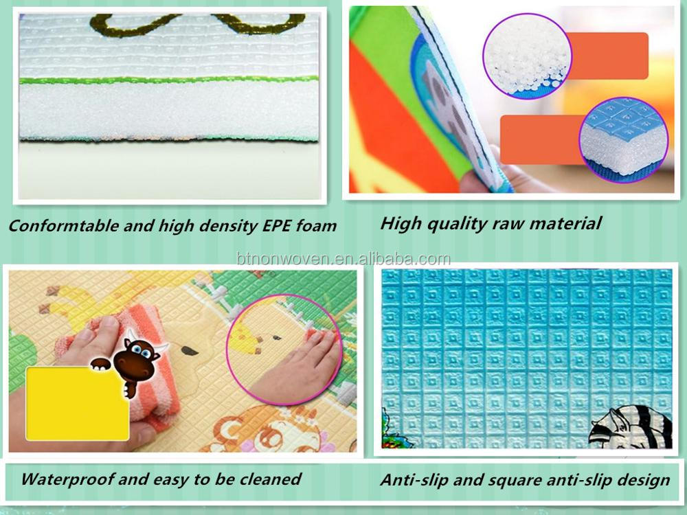 1cm non-toxic alphabets and fruits educational EPE foam baby play