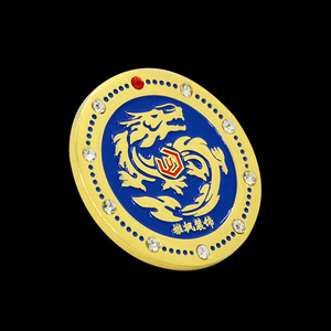 Chinese dragon Pattern 3D Metal decoration Diamond Plating badge coin