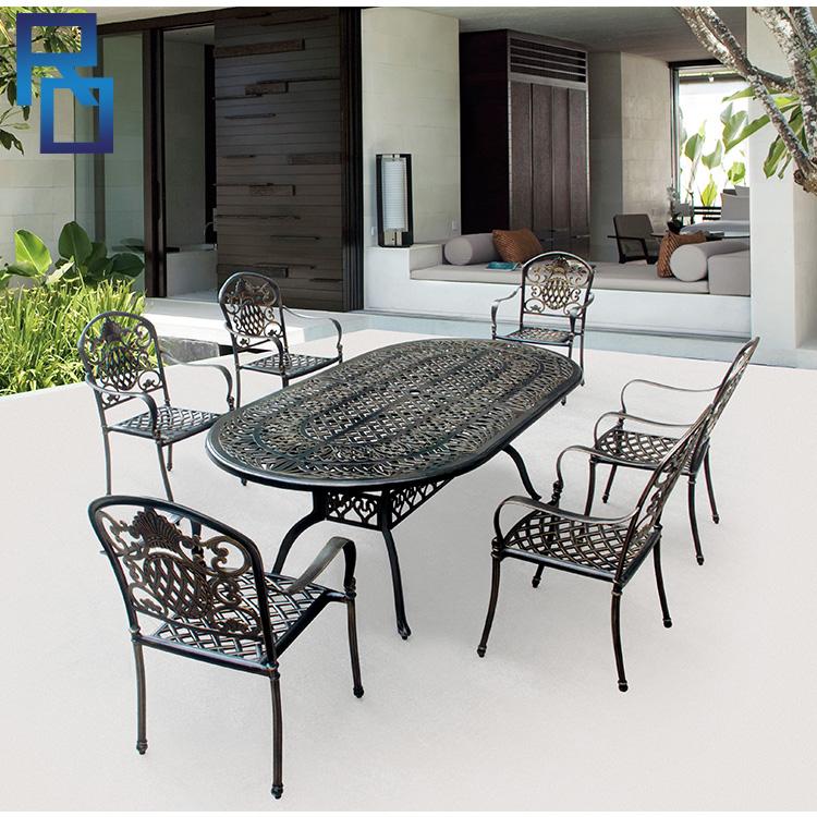 Waterproof Cast Iron Patio Furniture