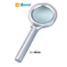 6 White LED Magnifier 8B-1 Glass Lens,Plastic Body Reading Magnifying Glass Made In China Alibaba Supplier