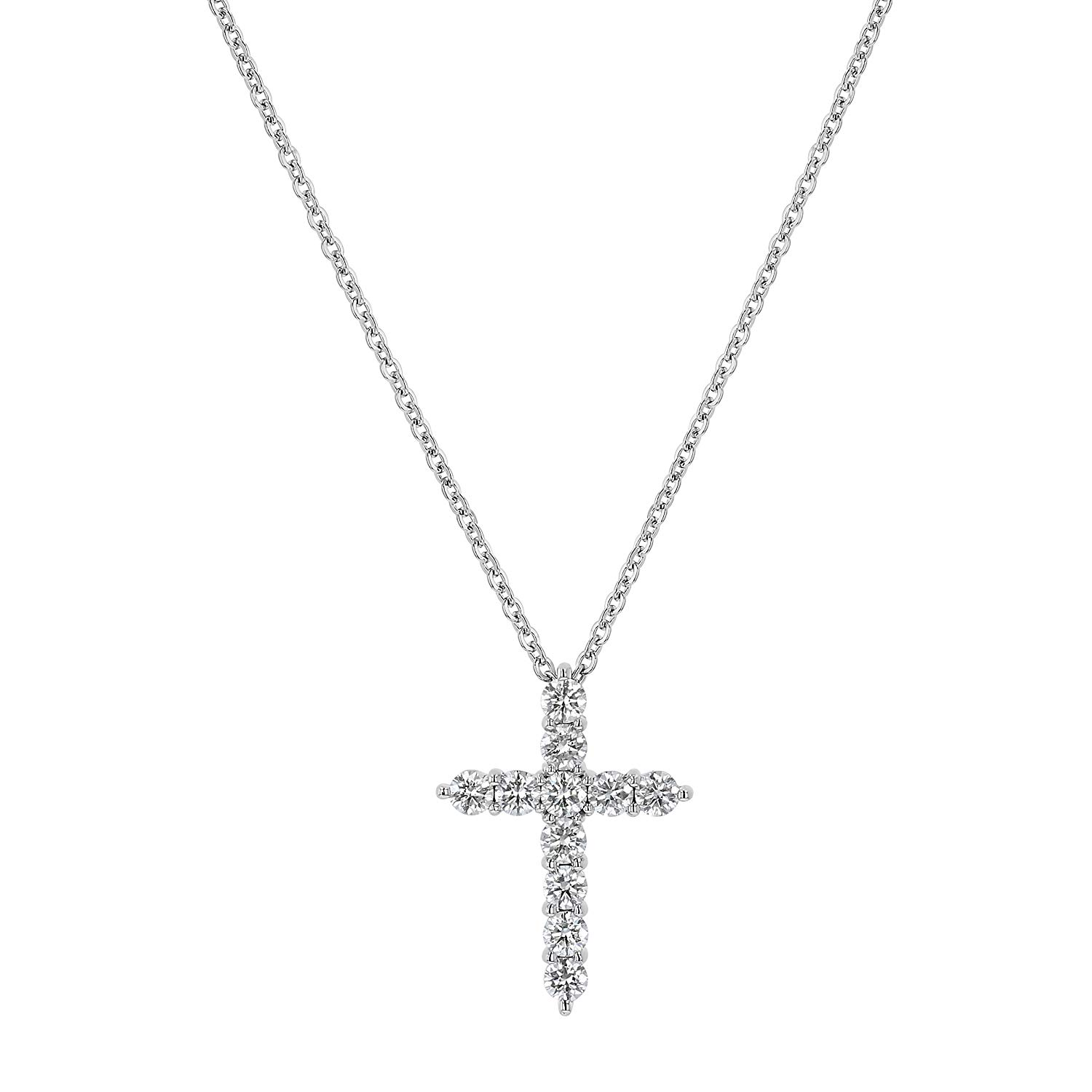 Cheap White Diamond Cross Necklace, find White Diamond Cross