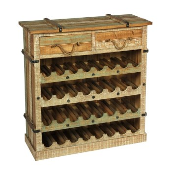 Storage Wine Rack Antique Furniture Wooden Cabinet
