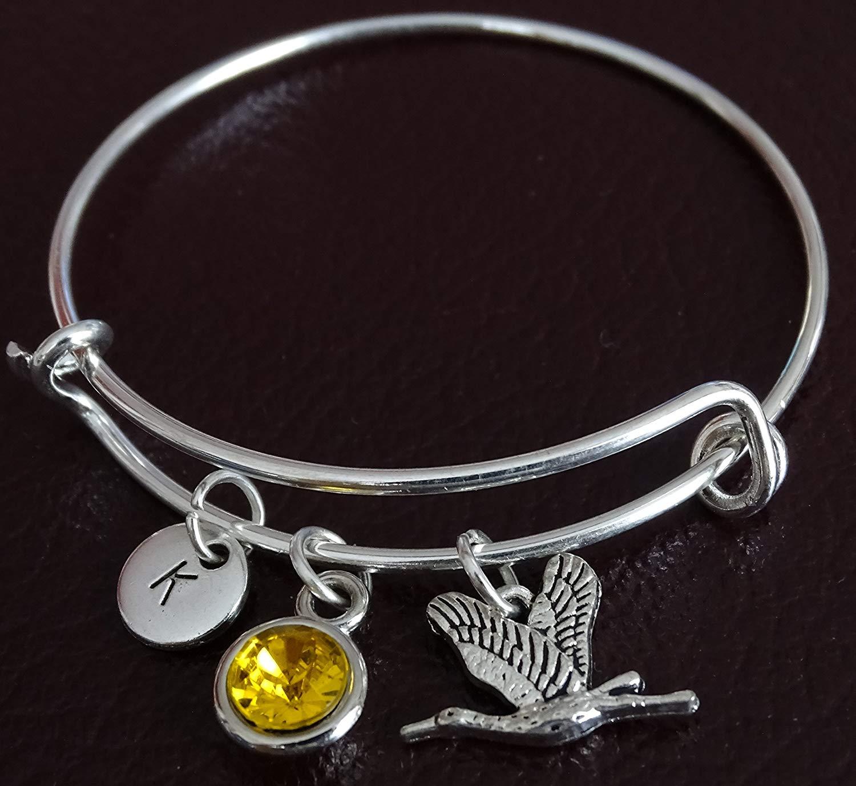 Stork Bracelet, Stork Charm, Stork Pendant, Stork Jewelry, Stork Gift for Her, Stork Women, Stork Girl, Stork Girlfriend, Stork Lover Gift, Stork Birthday, Crane Bracelet, Crane Jewelry