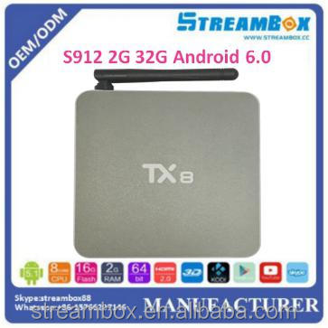 2016 new chip Amlogic s912 Kodi addons TX8 <strong>2G</strong> 32G <strong>TV</strong> <strong>Box</strong> <strong>android</strong> 6.0 Octa core install free play store app XBMC <strong>android</strong> <strong>tv</strong> <strong>box</strong>