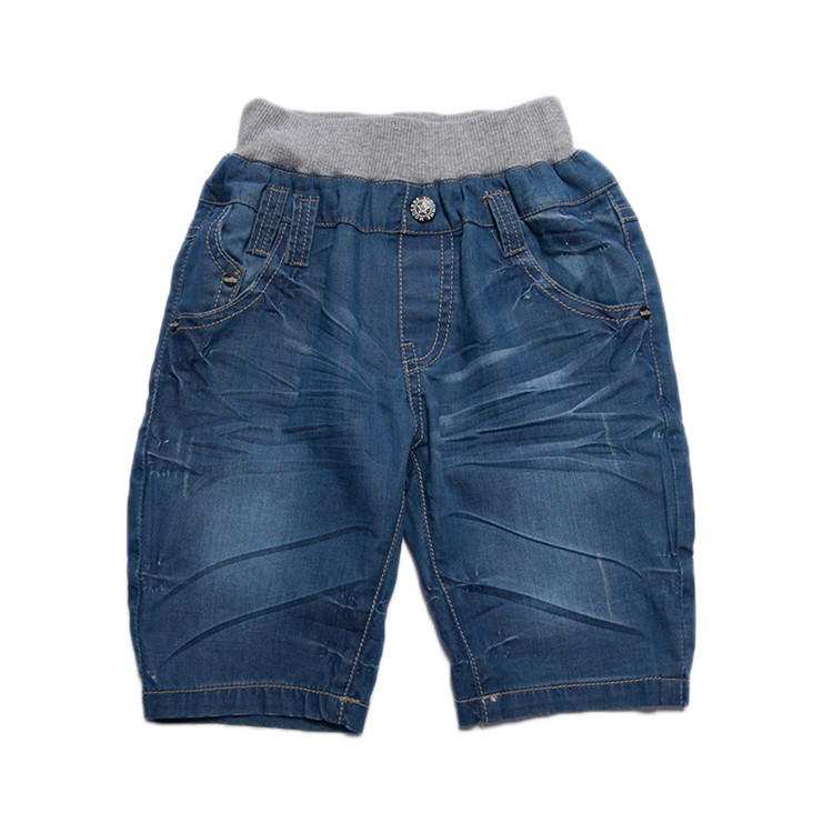 2015 summer new styles fashion jeans shorts little boys solid color fashion denim shorts casual short pants    BXK42077