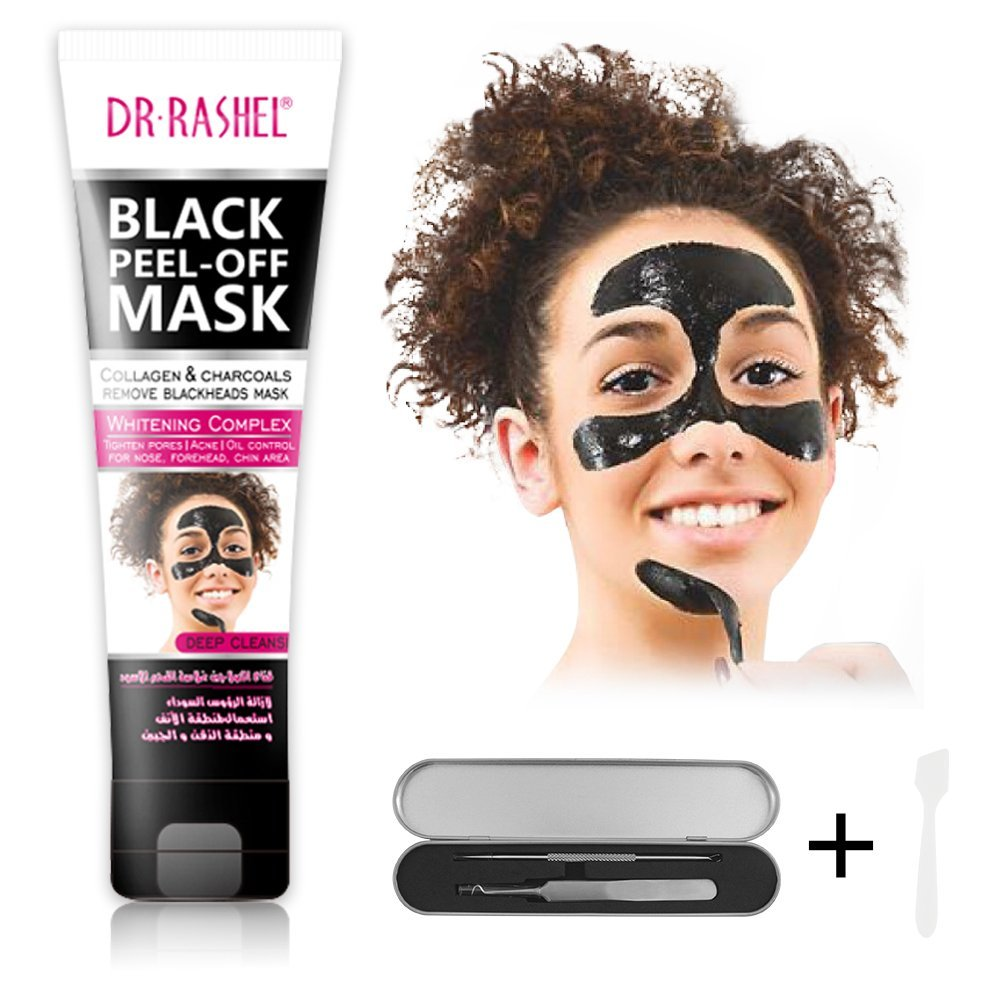 Purifying Black Mask,Blackhead Remover Tool Kit with spoon,Peel-Off Mask Activated Charcoal Deep Cleaning for Acne,Oil Control,Anti-Aging Wrinkle Reduction