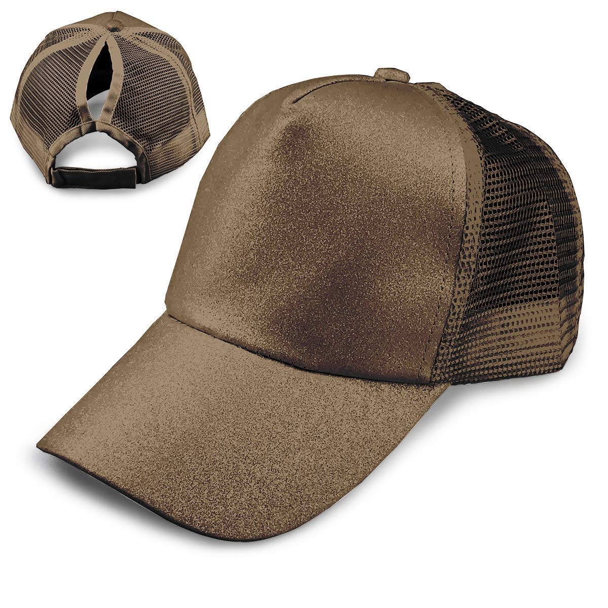 Get Quotations · Ponytail Hats for Women Messy Trucker Hat Plain Ponytail  Baseball Visor Cap 1eb4cd8e2acc