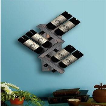 Wood Rustic Wine Rack Angled Wine Bottle Holderwine Storage Buy