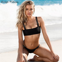 Ability to customize dropshipping hot sale in Amazon bandeau European size black brazilian bikini online