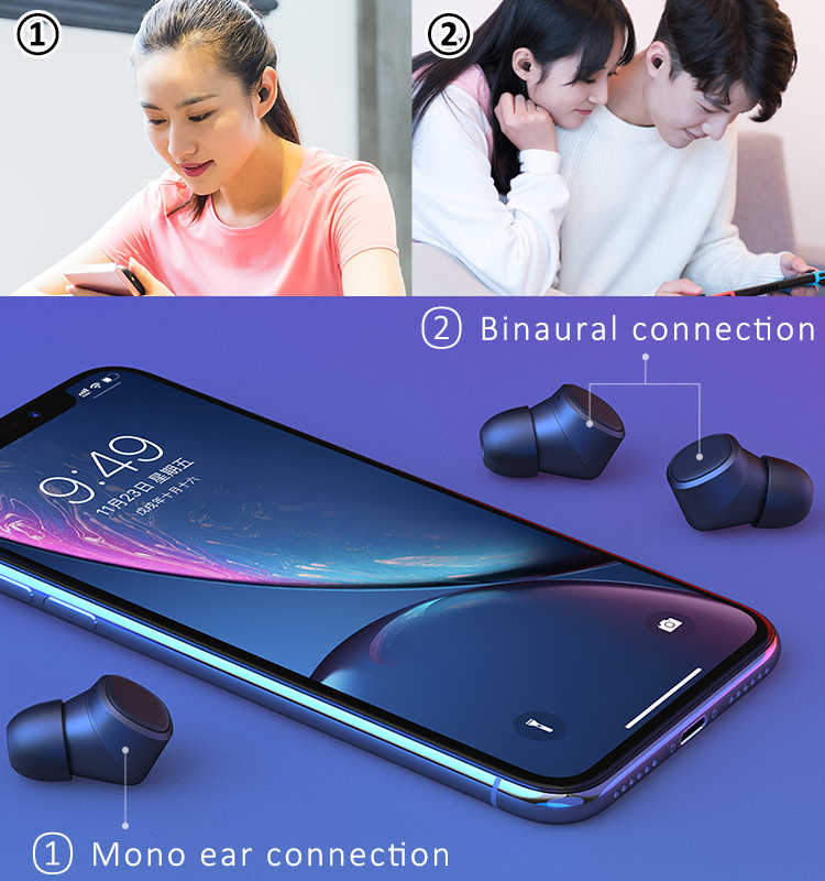 Latest high quality best small mini bluetooth wireless earphone handsfree headphone bluetooth 5.0 version