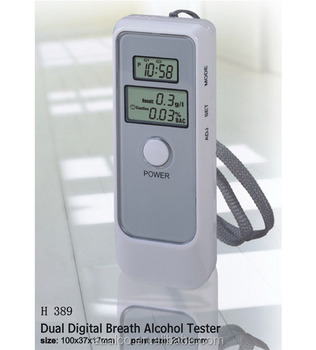 White Simple Breathalyzer Alcohol Detector Breath Alcohol Tester