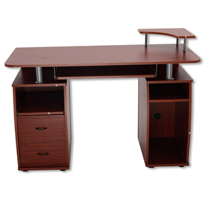 DX MDF panel cherry color design wooden executive office desk for commercial furniture(DX-8514B)