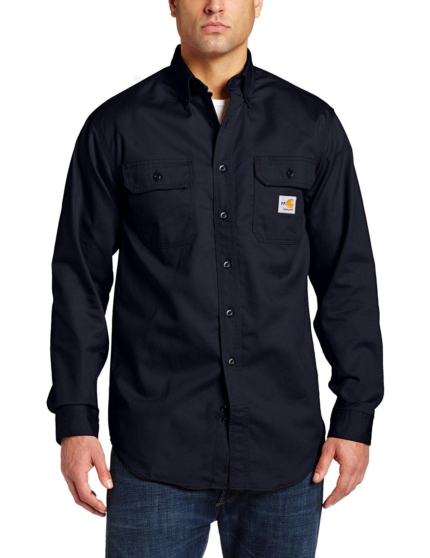 1db18193c7ec Get Quotations · Carhartt Men s Big   Tall Flame Resistant Classic Twill  Shirt