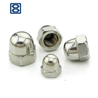 Galvanized hexagon domed cap nut M8 DIN1587