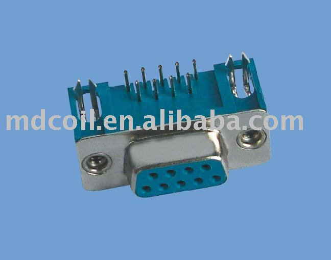 High efficiency D-SUB connector 9P for monitor connection