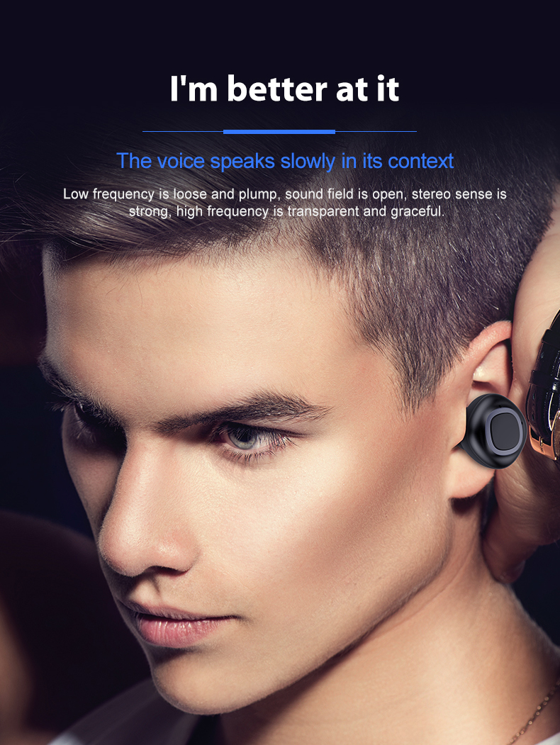 2019 Handsfree OEM headphone tws true wireless BT earphone tws mini wireless earphone with mic