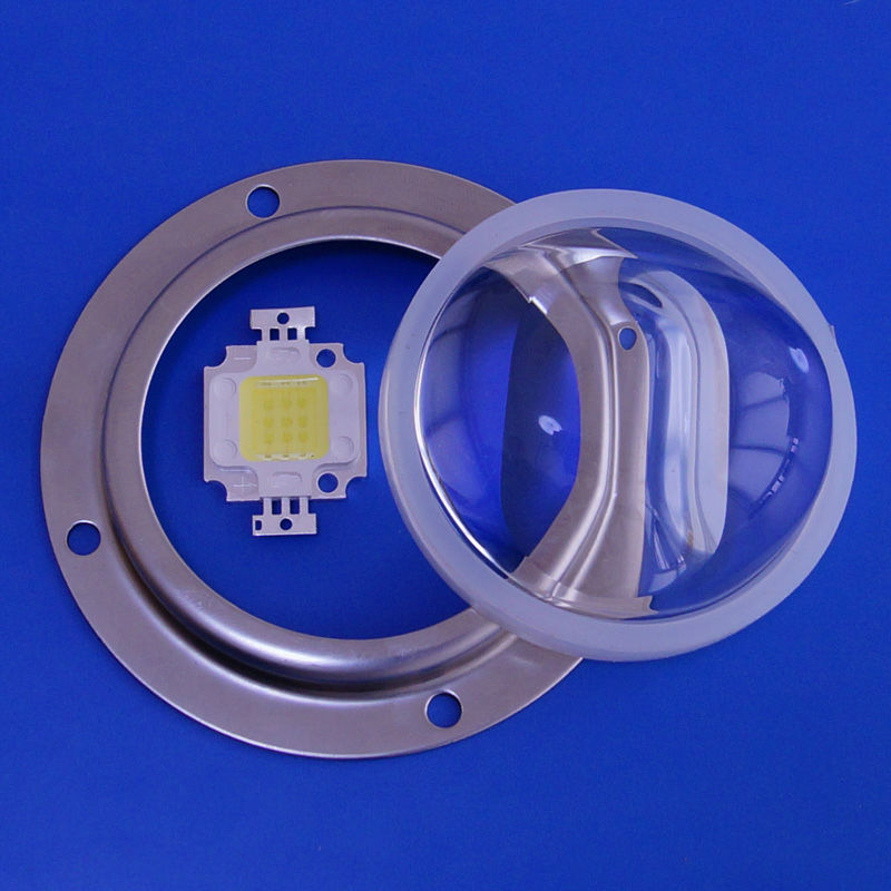 56mm 10w 20w 30w Led glass optical lens for COB leds