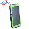 Portable Rohs Manual Water Proof Solar Power Bank 8000Mah With Led For Cellphone