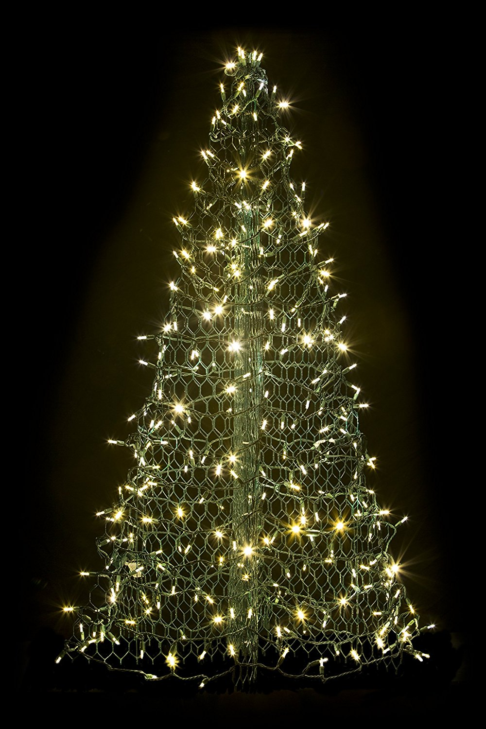 5' Crab Pot Christmas Tree with 280 Clear, Warm White LED Mini Lights
