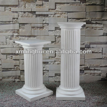 White Polyresin Garden Landscping Pillar Buy Garden