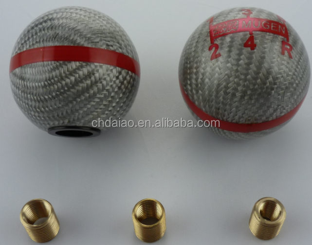 MUGEN SERAT KARBON MERAH 6 SPEED GEAR SHIFT KNOB FD2 CL7 CL9 FN2 DC5 S2000