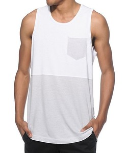 ATK077 color contrast hip hop tank top with pocket made in china