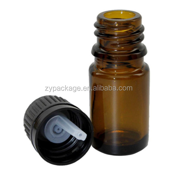 10 ml amber glass bottle with anti theft & leak proof cap and reducer
