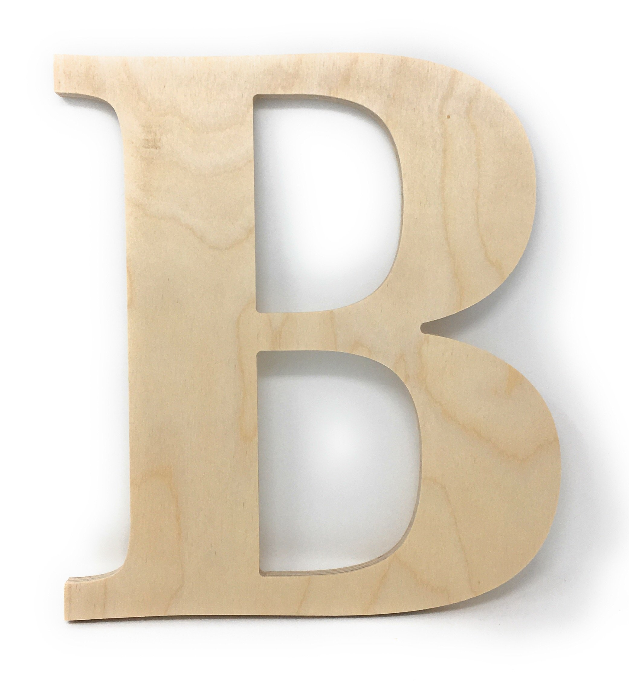 """Gocutouts 12"""" Wooden A Unfinished Wooden Letters Paint Ready Wall Decor Times A (12"""", A)"""
