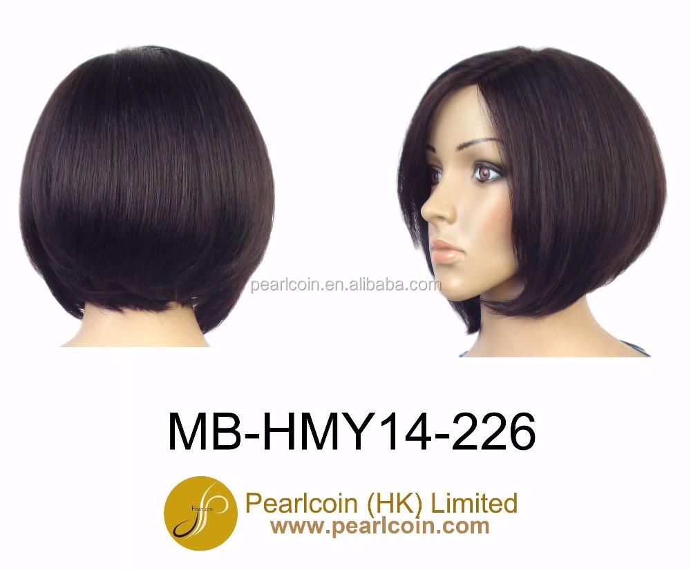 610af825f2556 الاصطناعية قصيرة رخيصة الطازجة يتوهم باروكة شعر أسود بوب قص ستايل ...