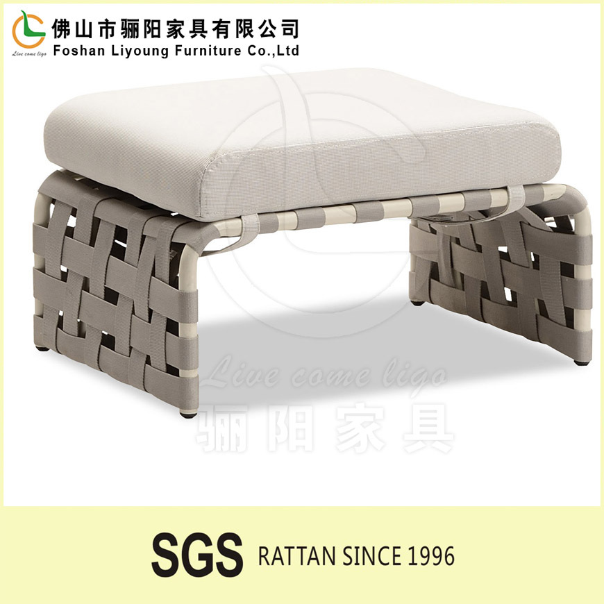 Good quality New- style modern outdoor garden furniture rural rattan footstool
