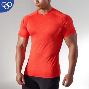 OEM Service Custom Made Elastic Sweaty Sports Top Fitness Man