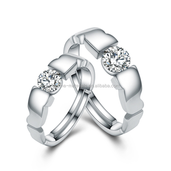 2017 Fashion Design Italian Silver Rings Lover Couple Rings Jewelry