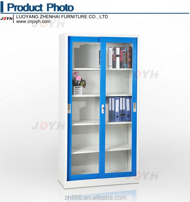 Steel office furniture glass sliding door bookcase file cabinet /metal bookshelf parts  sc 1 st  Alibaba & Steel Office Furniture Glass Sliding Door Bookcase File Cabinet ...