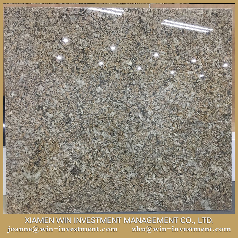Factory whole sale beige yellow granite crystal yellow granite slabs large size low price
