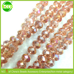 Factory price Colorful Imitation agate beads glass pearl bicone beads