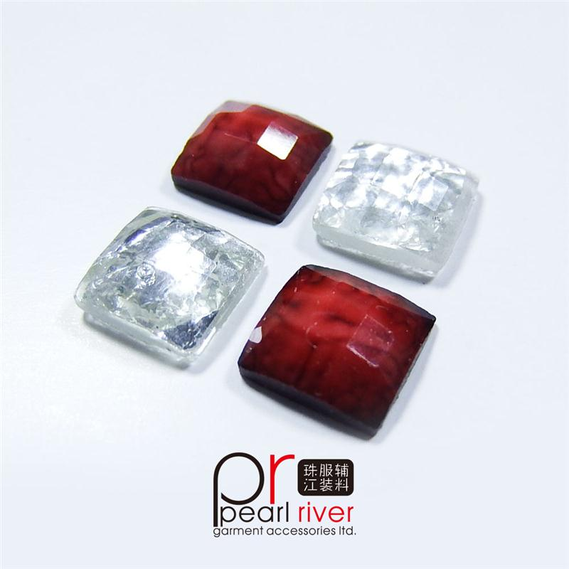 square stone with metal base factory acrylic rhinestone