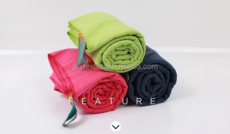 Outdoor Camper special use quick dry custom hiking towel