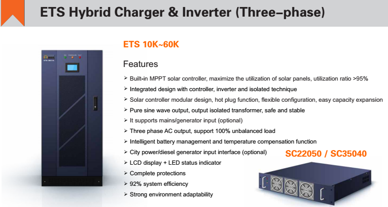 60KVA Three Phase Hybrid Inverter