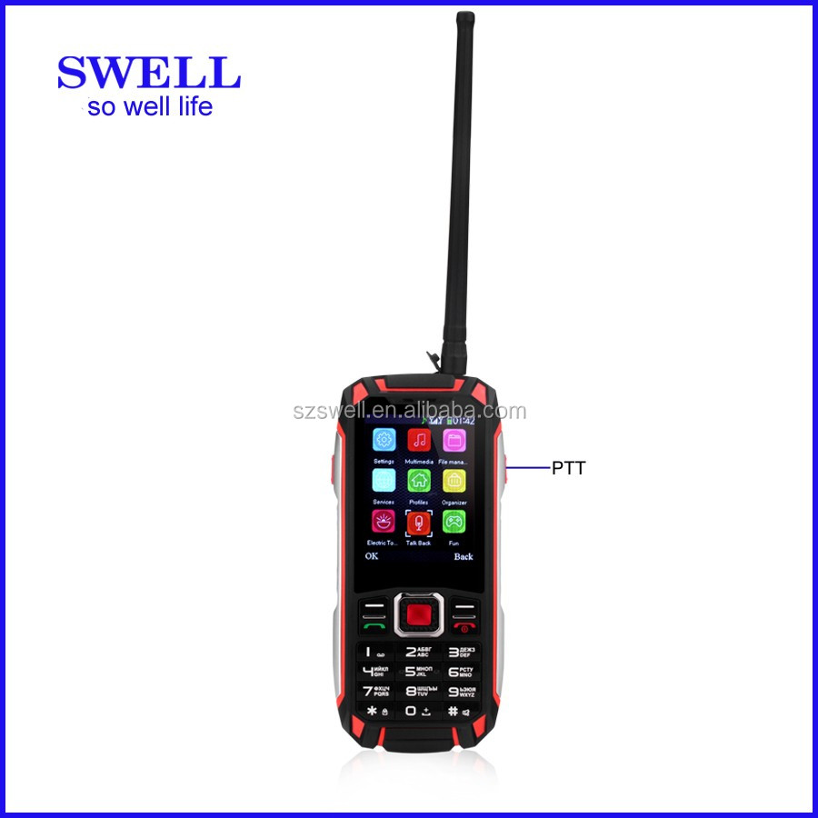 Military rugged 2.4inch feature phone MT6260A walkie talkie rugged phone OEM GPS bleutooth WIFI F007