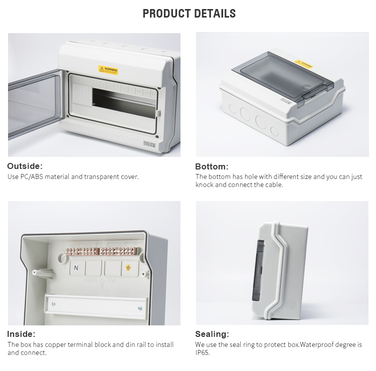 Canton Fair 4 mobile Breaker Enclosure Portable 3 Phase Electrical board Waterproof Power Distribution Box