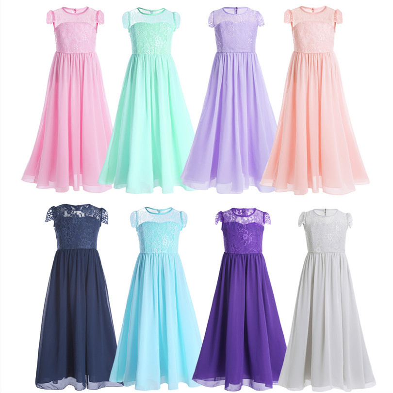 95ca13130 7-14 Years Old Girl Long Gowns Piano Proms Dress Summer Elegant ...